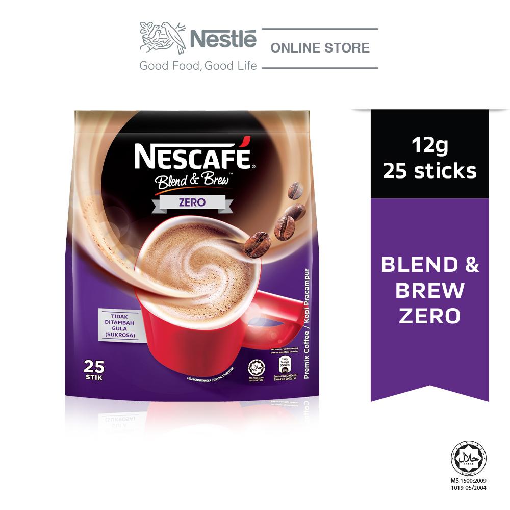 NESCAFE Blend and Brew Zero 25 Sticks