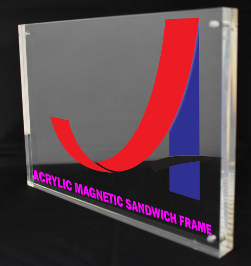 Clear Acrylic Magnetic Sandwich [Frame Size: 180mmX 130mm] [Thickness: 12mm+12mm]