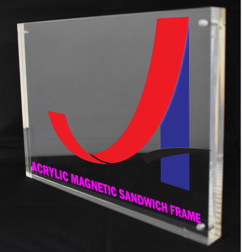 A6 Clear Acrylic Magnetic Sandwich Frame (10mm+10mm)