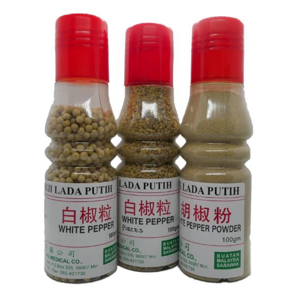 100% Sarawak Genuine White Pepper (50G / 100G) Powder / Pieces / Whole Pepper