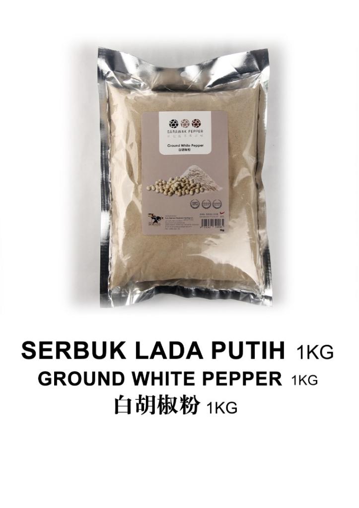 Sarawak Ground White Pepper (1kg vacuum seal pack)