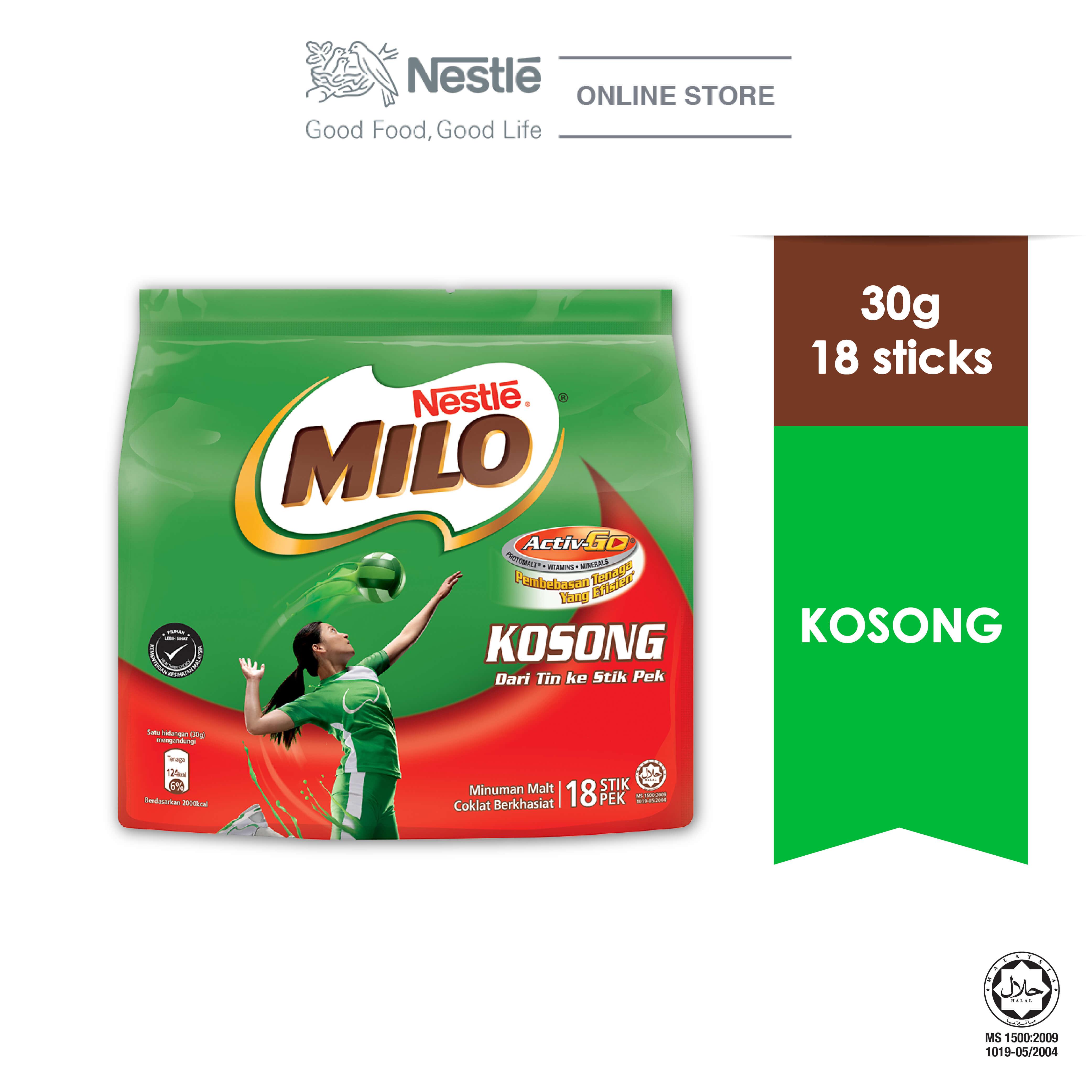 NESTLE MILO KOSONG ACTIV-GO 18 Sticks 30g