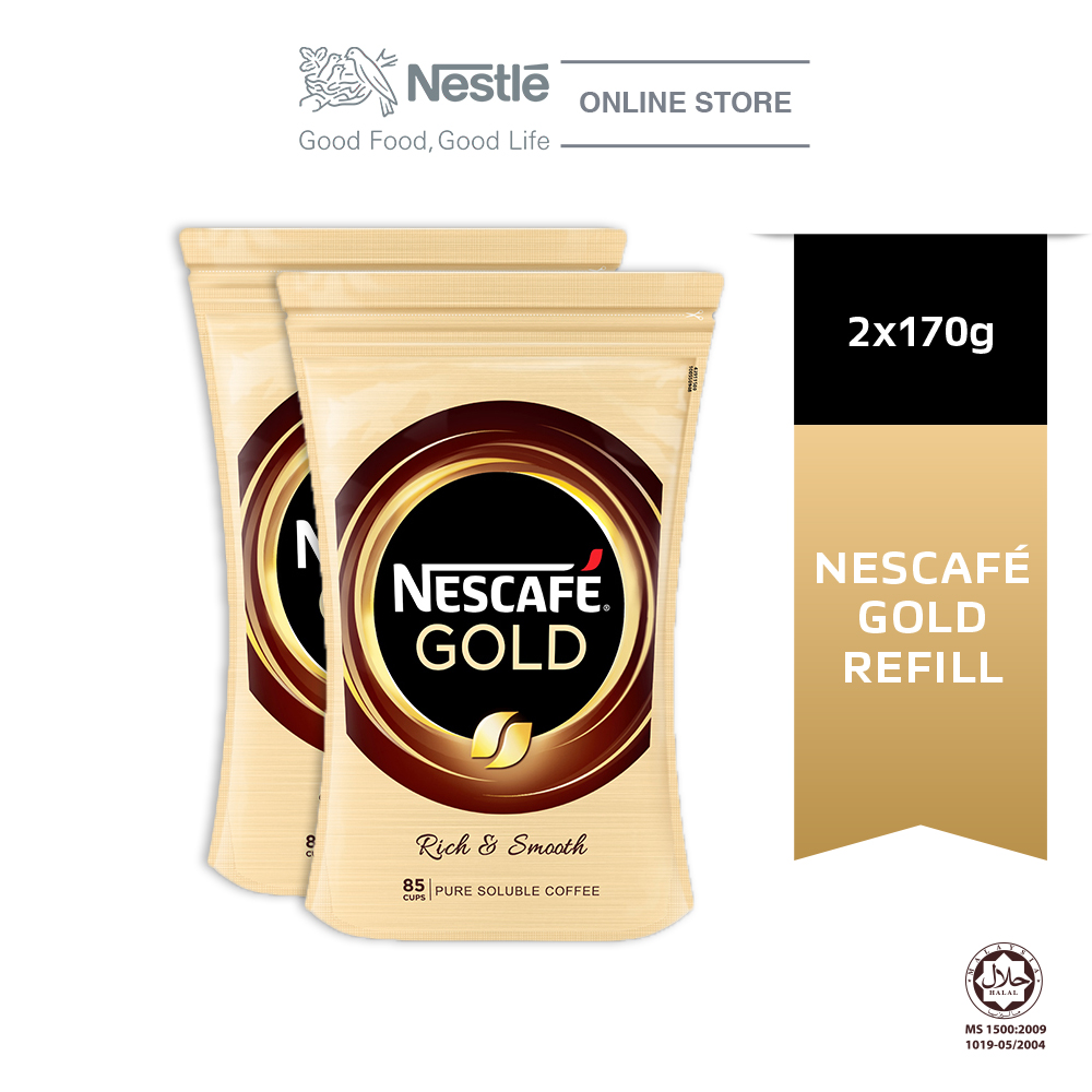 NESCAFE GOLD Refill 170g, Bundle of 2