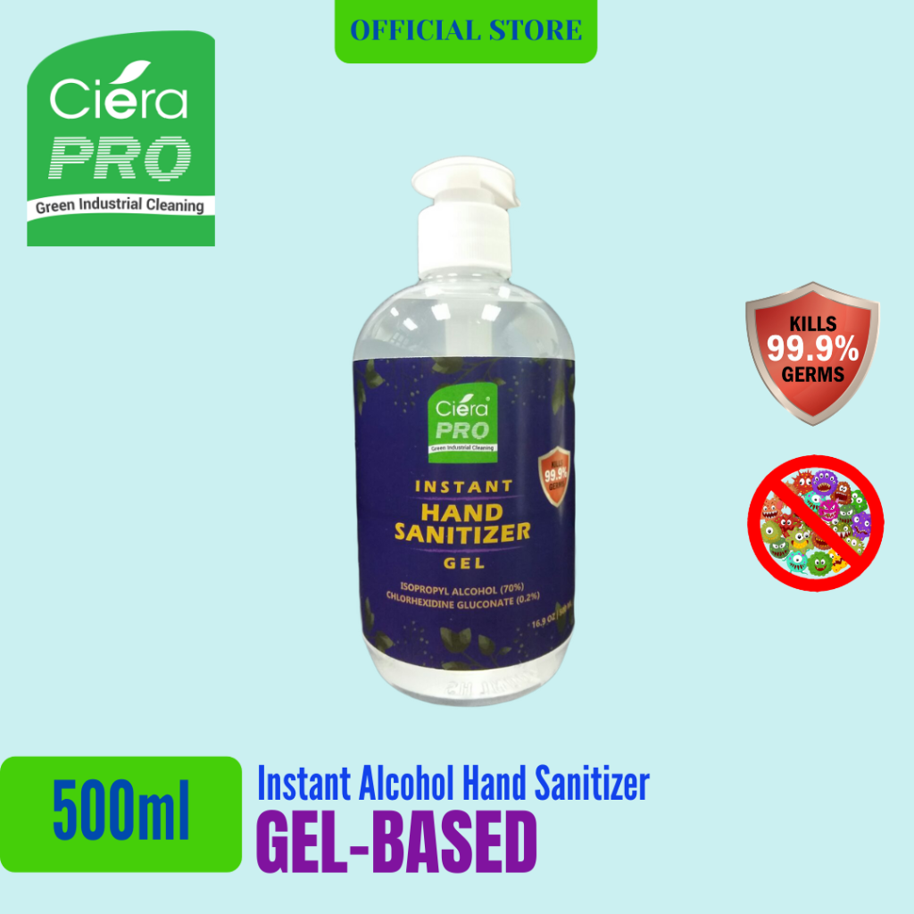 Bundle Deal : Ciera Pro Instant Alcohol Gel Hand Sanitizer (500ml)