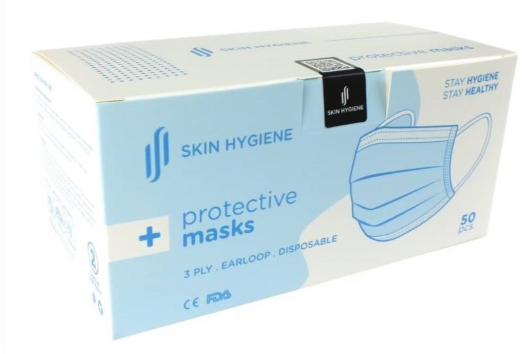 Face Masks - Disposable Protective 3-Layer Masks (50 pcs; Ready Stock)