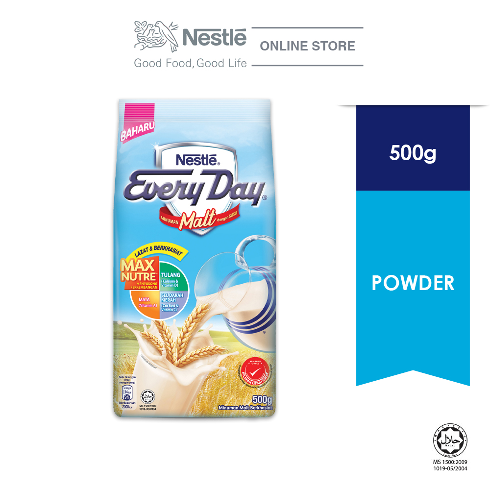 Nestle EVERYDAY Malt Milk Powder 500g