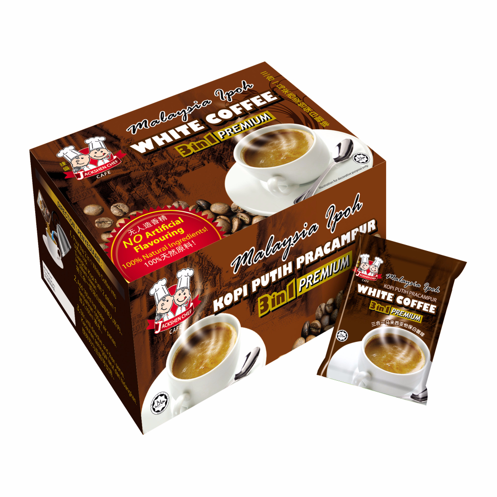 Jackshen Chef Malaysia Ipoh White Coffee (40g x 13 sachets)