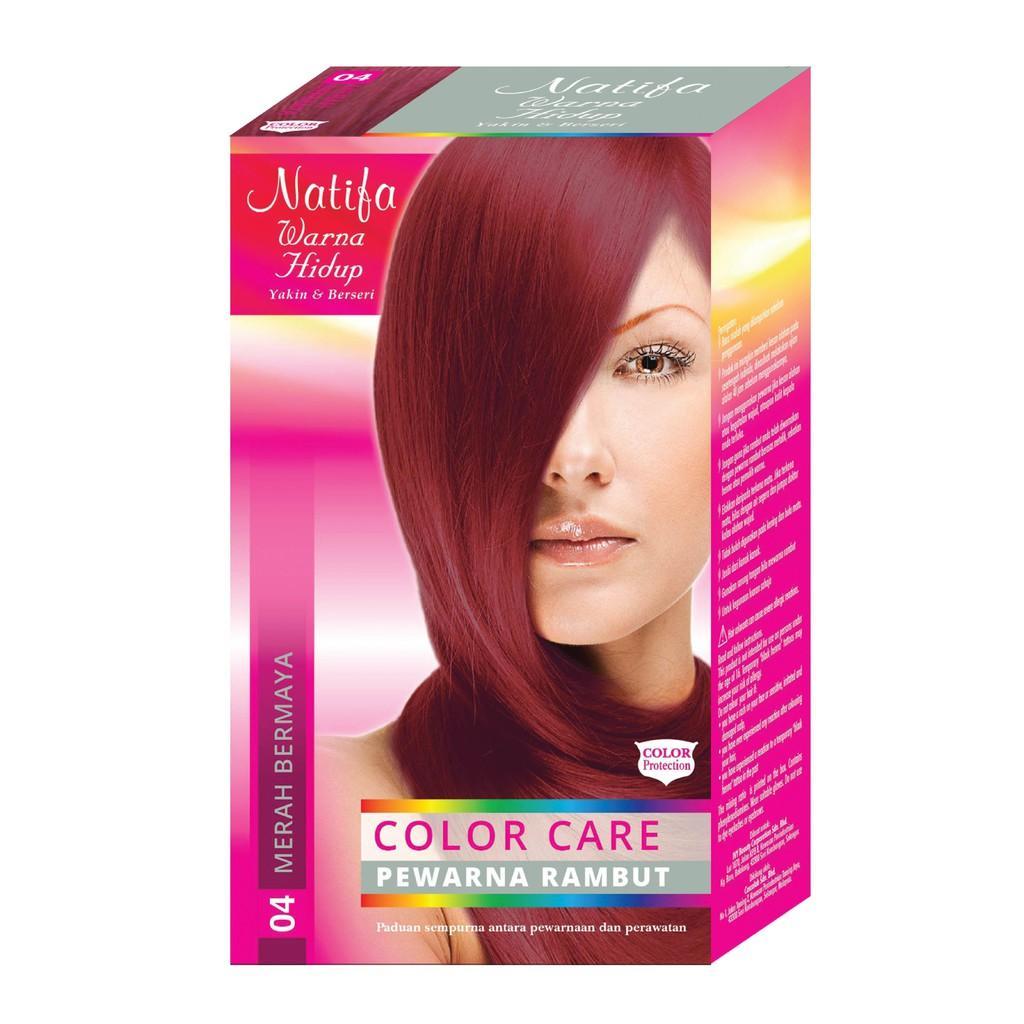 Natifa Warna Hidup Pewarna Rambut - Merah Bermaya 04