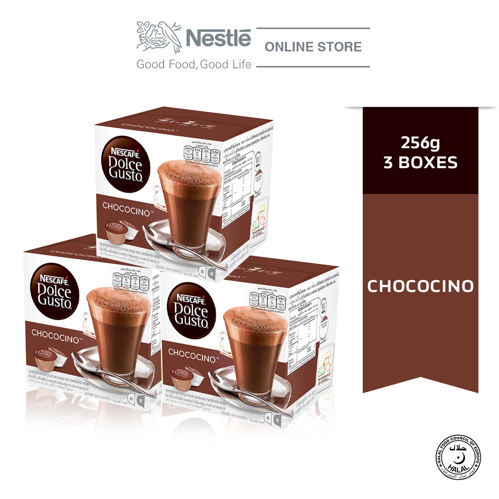 NESCAFE Dolce Gusto Chococino Chocolate Bundle of 3 Boxes