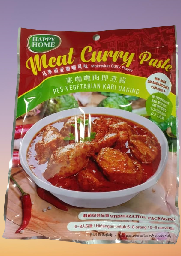 Happy Home - Vegetarian Meat Curry Paste 素咖喱肉即煮酱 (200g)