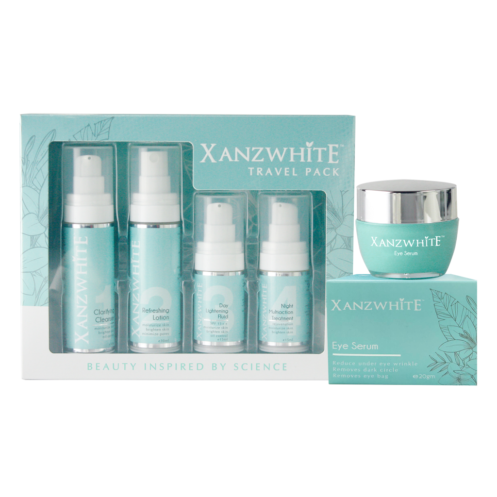 Xanzwhite Whitening Set Travel Pack (4 in 1)